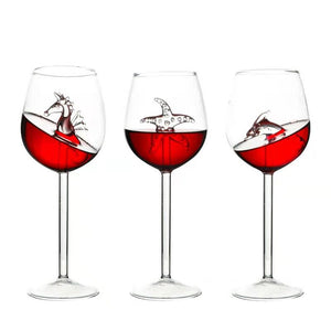 【In-stock 🔥50% OFF】SHARK RED WINE GOBLET (Handmade)
