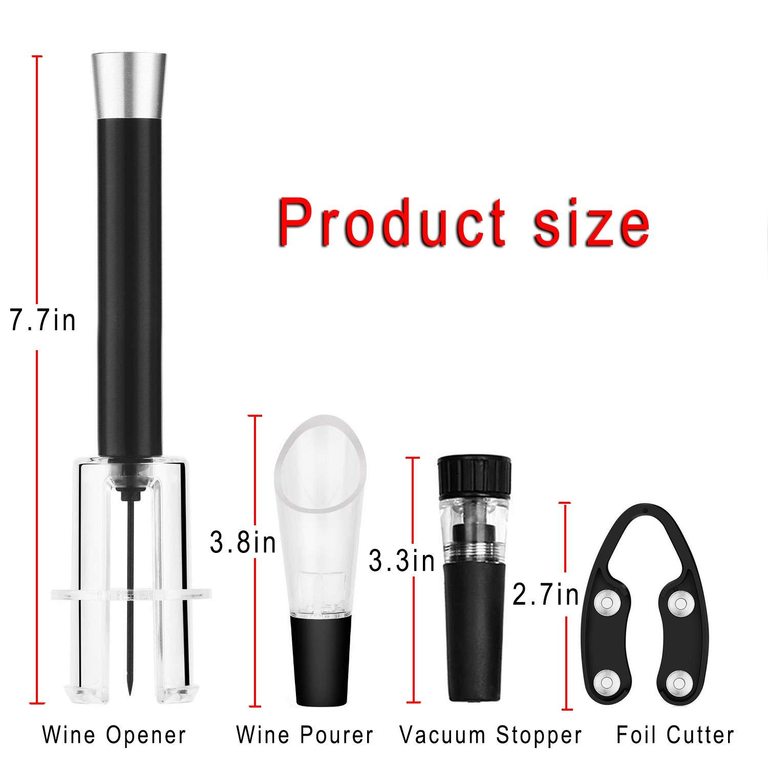 Air Pressure Wine Opener - Bottle Rocket Gift Set