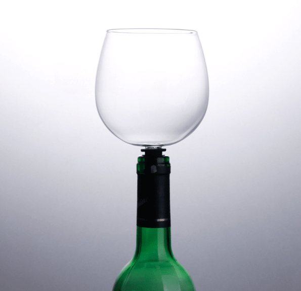 Drink on Demand Glass - Turns Your Bottle Into Wine Glass