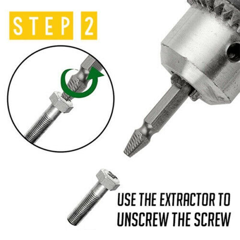 2-In-1 Premium Drill Bit & Screw Extractor ( Set Of 5)