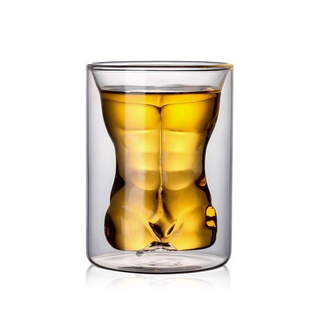 Creative Sexy Human Body Beer Glass Cup Funny Beauty Muscle Man Double Wall Glasses Wine Whiskey Vodka Shot Glass Valentine Gift