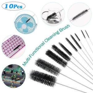 10PC/Set Stainless Steel Wine Bottle Brushes Wire Pipe Tube Brush