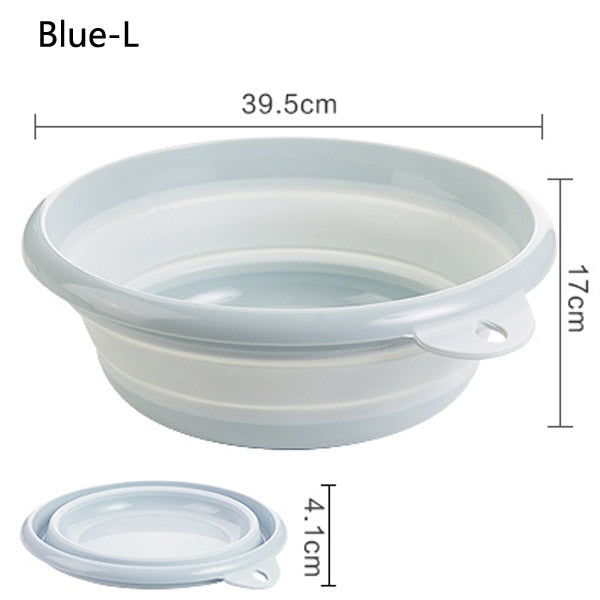Portable Folding Bucket Foldable Basin Tourism Outdoor Folding Bucket Fishing Promotion Camping Car Wash Bucket Outdoor Camping