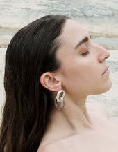Load image into Gallery viewer, Double Link Silver Earrings