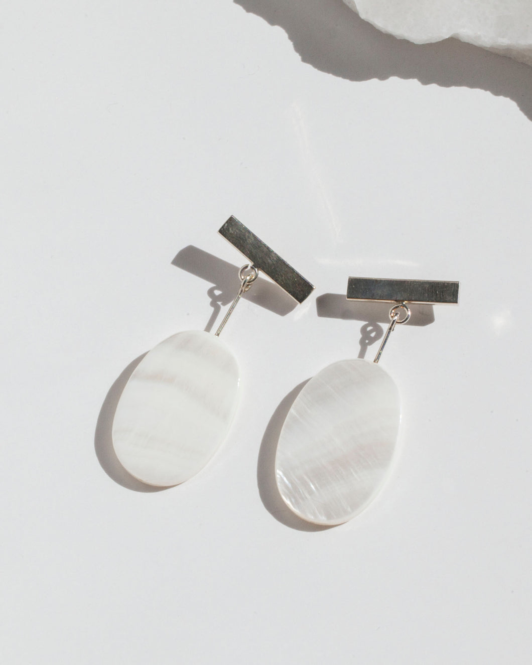 Bar Oval Earrings
