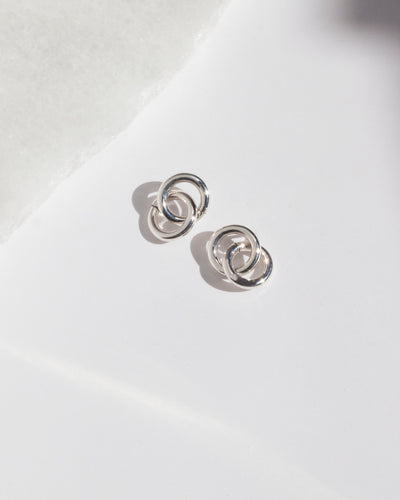 Petite Silver Double Hoop Earrings