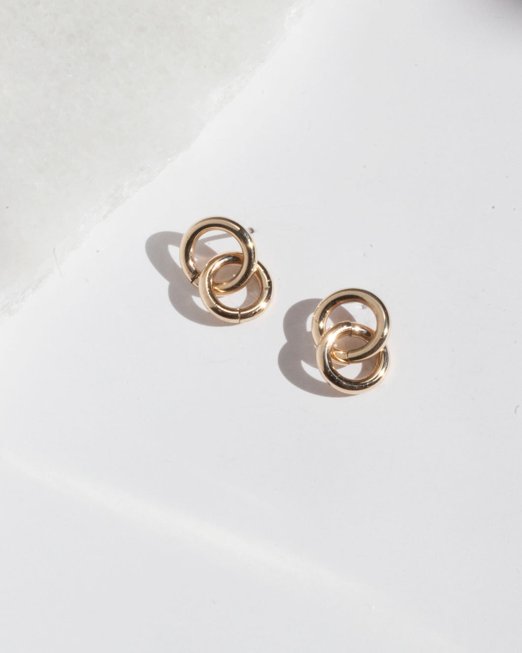 Petite Double Hoop Earrings