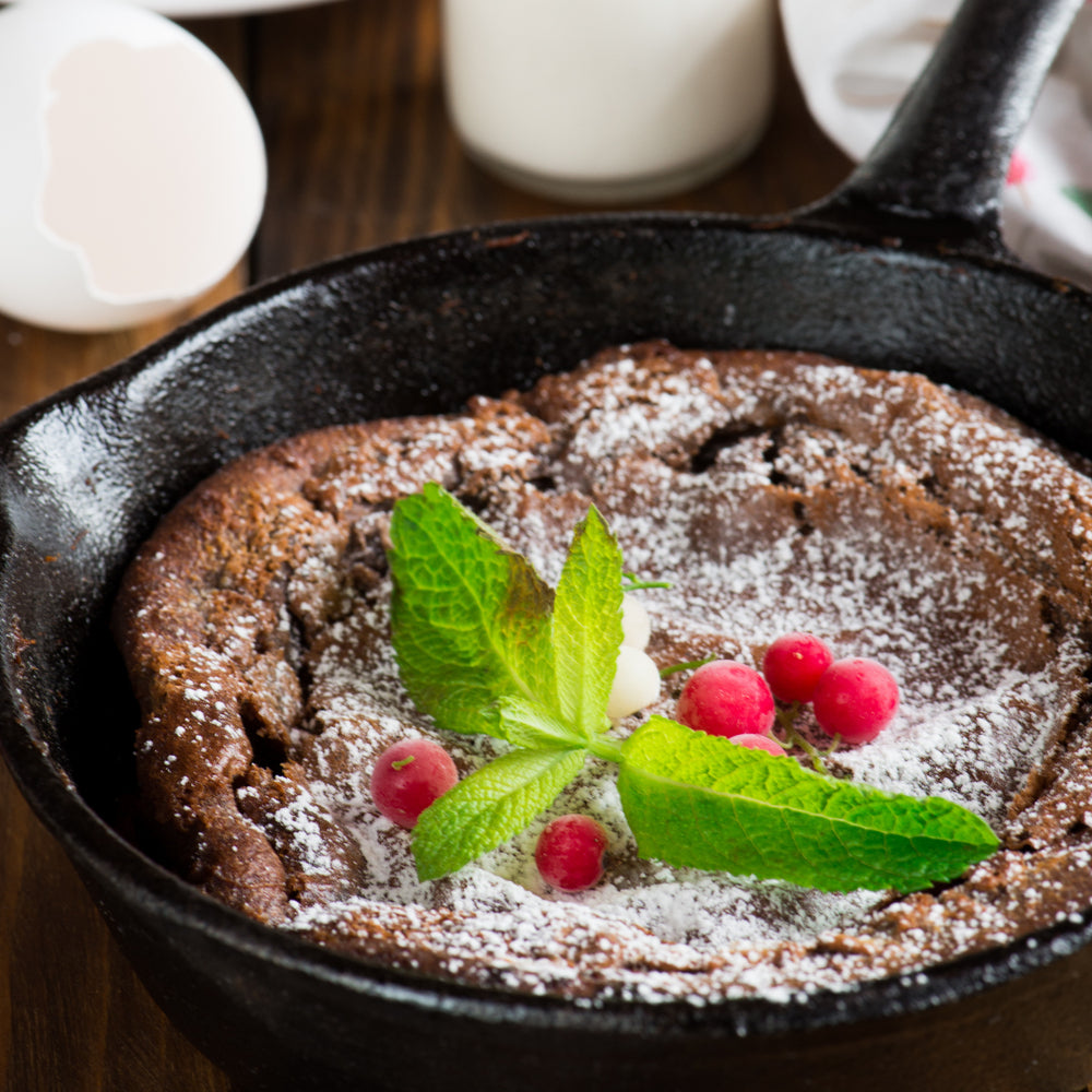 Air Fryer Double Chocolate Chunk Brownie Skillet