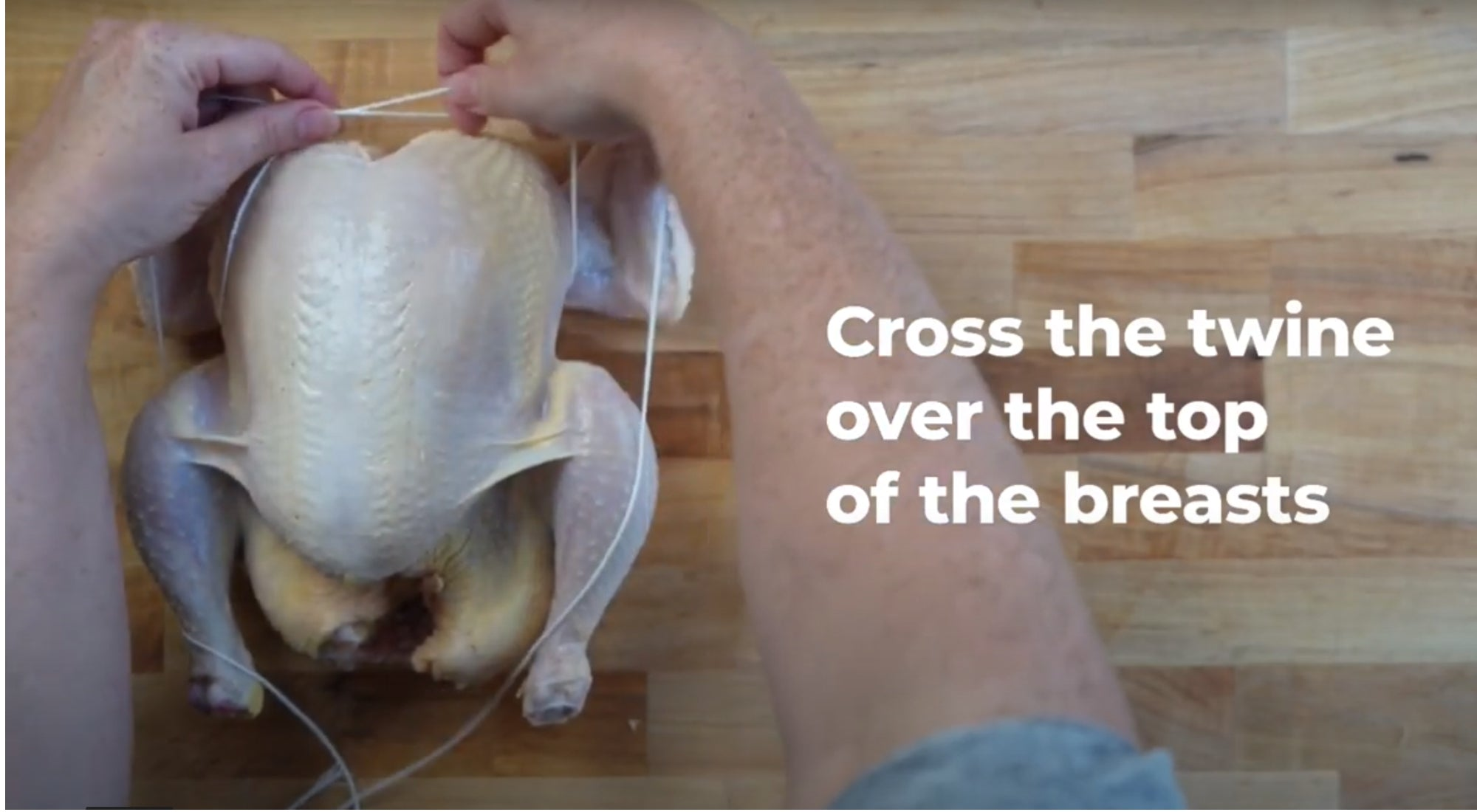 How To Truss Your Rotisserie Chicken with Butcher's Twine