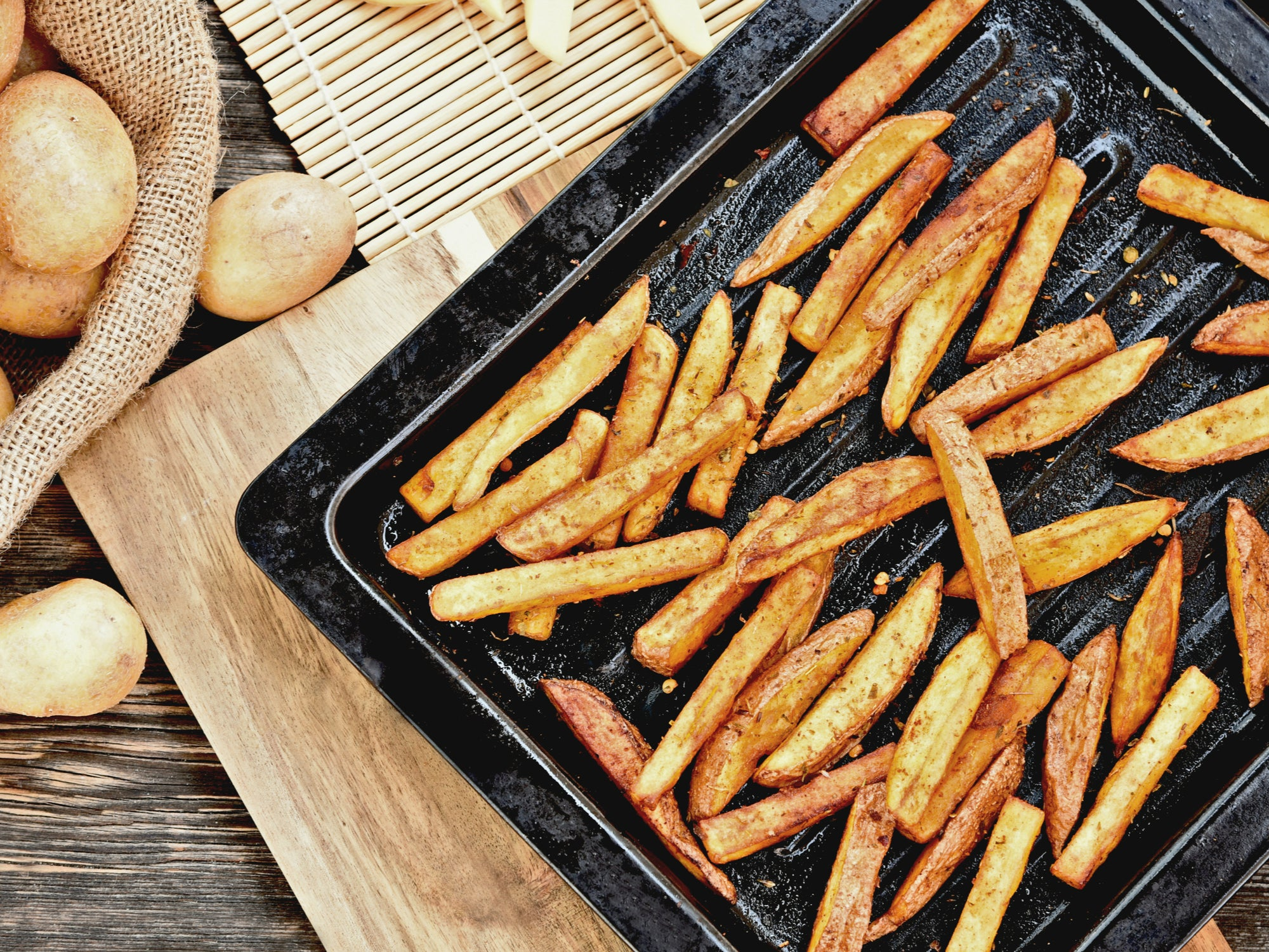 French Fries Made in the Kalorik MAXX Air Fryer Oven