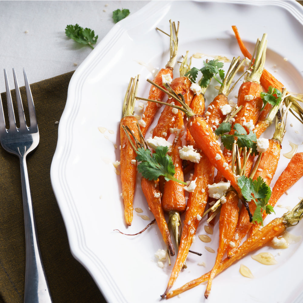 Roasted Carrots with Pesto & Goat Cheese Image