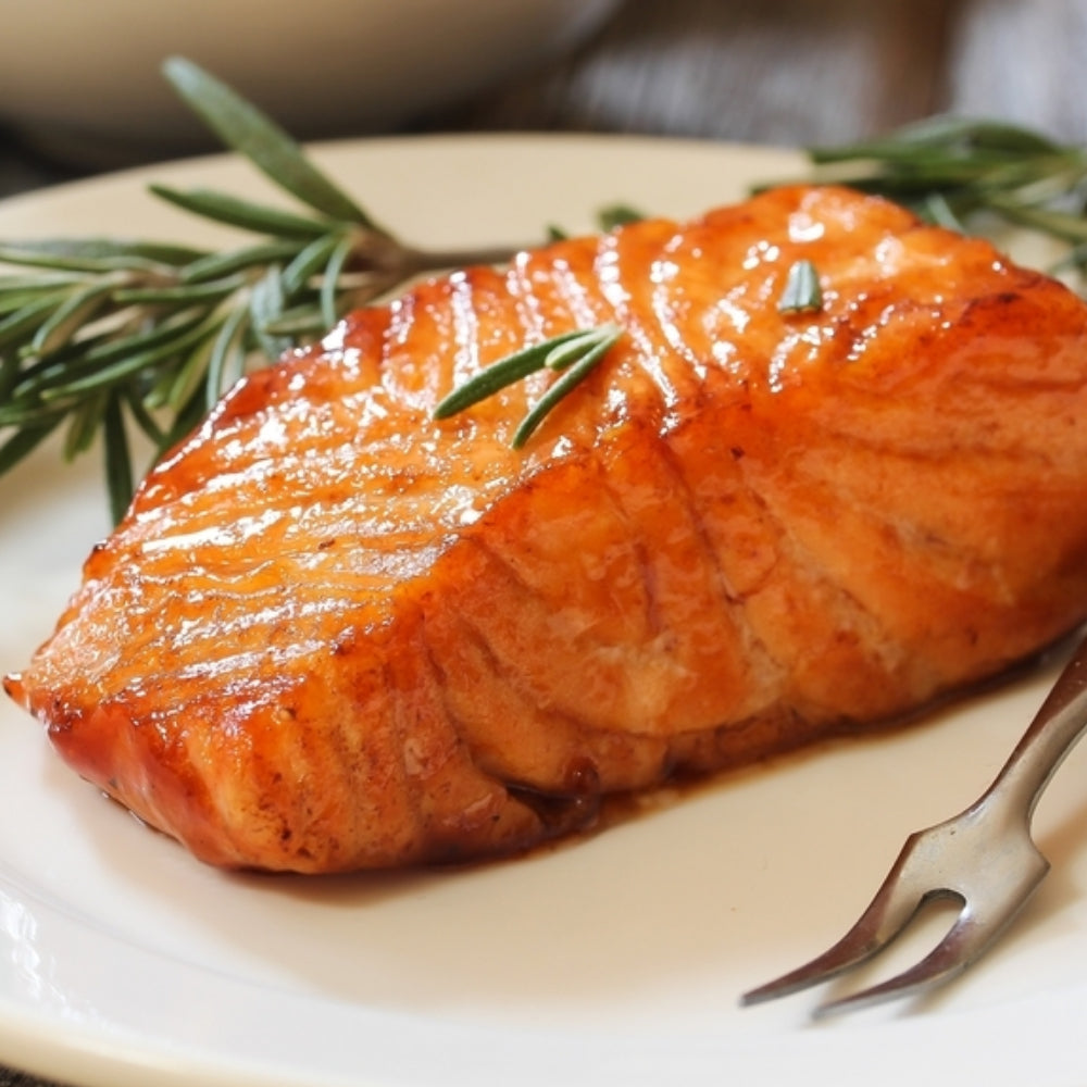 Air Fryer Honey & Soy-Glazed Salmon ote