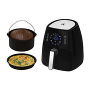 Kalorik 3.2 Quart Digital Air Fryer with Baking Pan and Pie Pan, Black