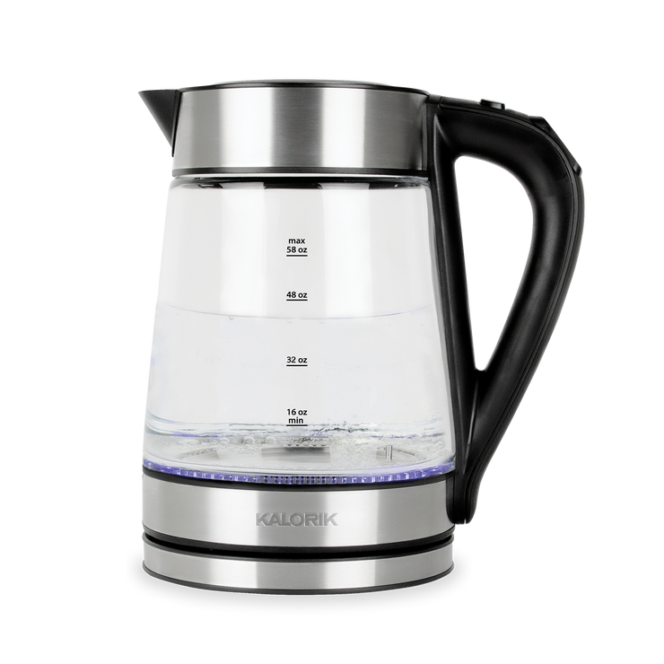 Kalorik 1.7 L Rapid Boil Digital Electric Kettle, Stainless Steel