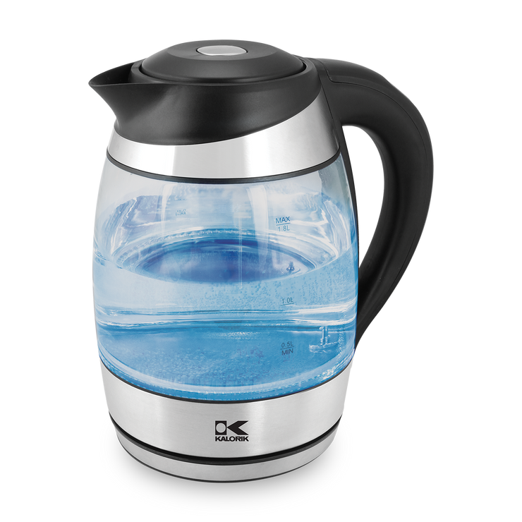 Kalorik 1.8 Liter Digital Water Kettle with Color LED, Glass