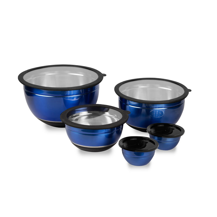 Kalorik 10-Piece Mixing Bowl Set, Blue