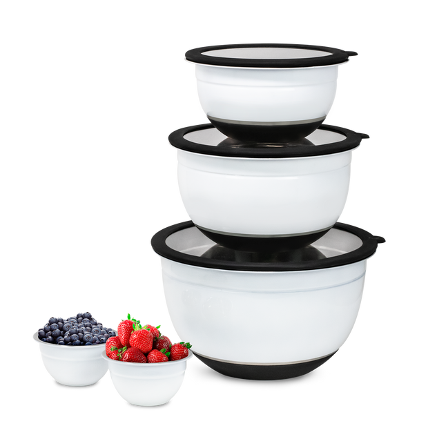 Kalorik 10-Piece Mixing Bowl Set, White
