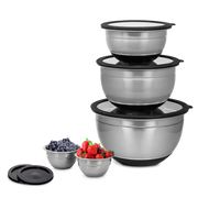 Kalorik 10-Piece Mixing Bowl Set, Gray