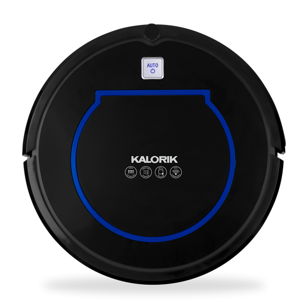 Kalorik Home Smart Robot Vacuum Pro with Ionic Pure Air Technology, Black and Blue