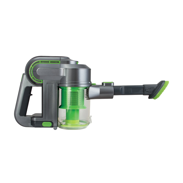 Kalorik 2-in-1 Cordless Cyclonic Vacuum Cleaner, Green and Silver