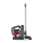 Kalorik 2-in-1 Cordless Cyclonic Vacuum Cleaner, Red and Silver