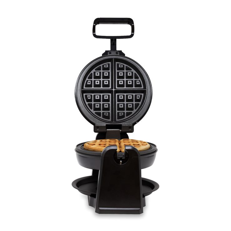 Kalorik Rotary Waffle Maker, Black and Stainless Steel