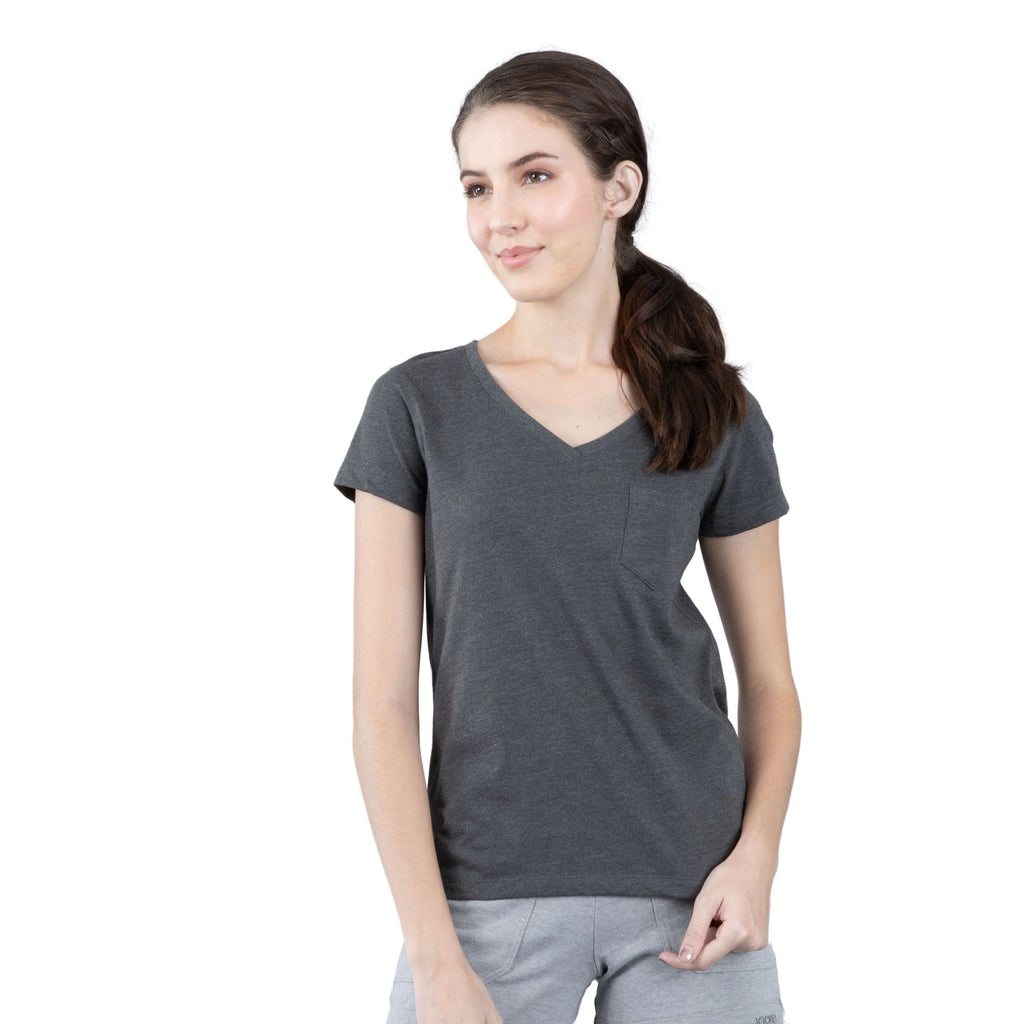 Jockey® 100% Cotton Womens V-neck with pocket