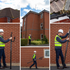 How to use high reach camera pole survey equipment to inspect a roof