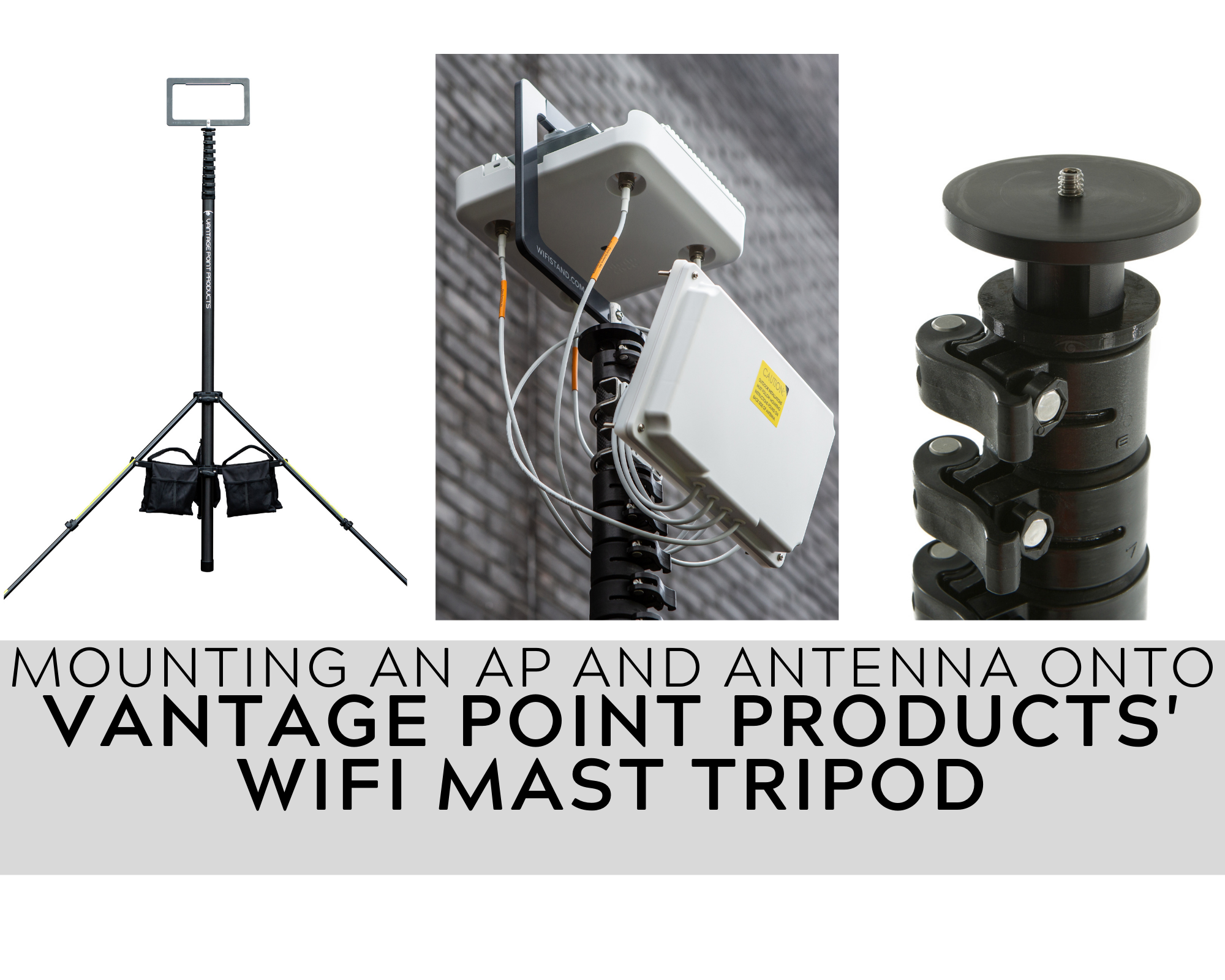 How to Mount an AP & Antenna on a WiFiStand for Warehouse WiFi Surveys
