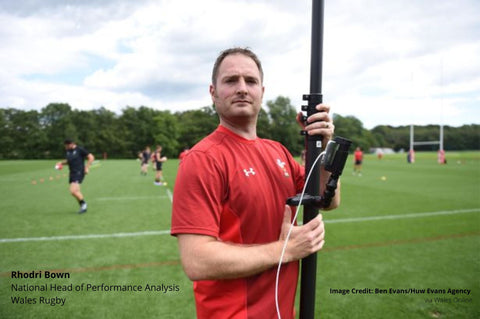 Rhodri Bown with Vantage Point Products sports video camera mast