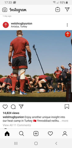 Wales Rugby National Team Instagram Video showing Vantage Point Products Sports Video Masts
