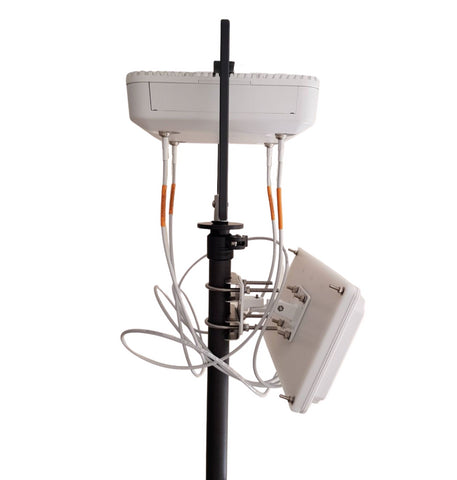 Vantage Point Products WiFiStand AP and Antenna mounting on Wi-Fi survey mast tripod
