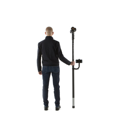 20ft 6m two storey monopod camera mast for sports performance analysis and photography by UK supplier Vantage Point Products