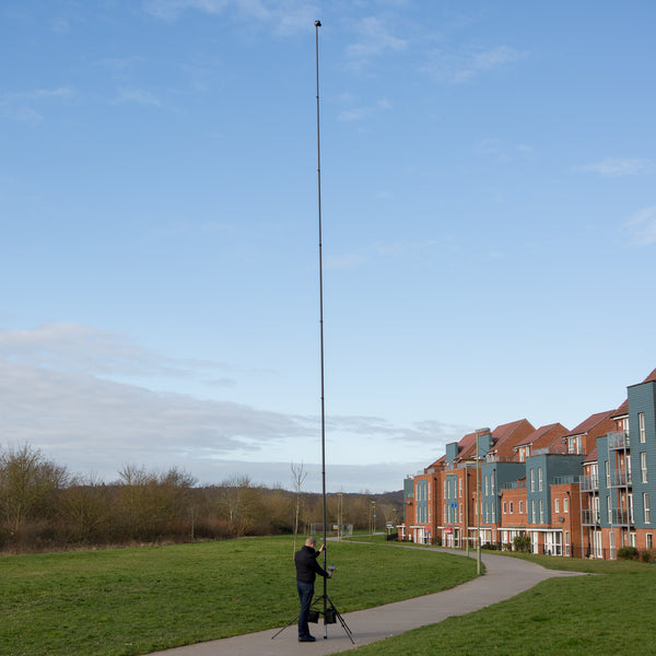 Portable and high quality professional carbon fibre survey and inspection mast pole with tripod, sold by Vantage Point Products