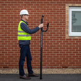 Compact and easy to transport industrial grade carbon fibre camera pole mast for roof surveys, solar and asset inspection