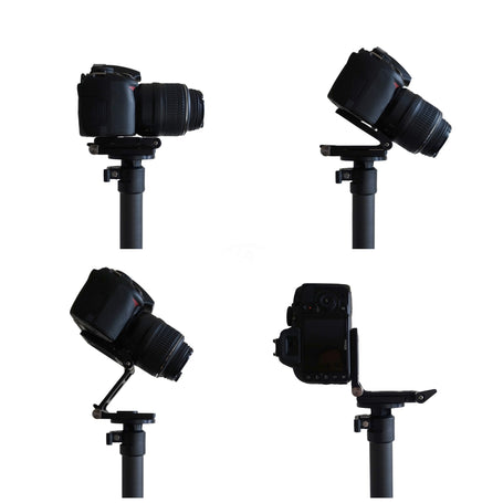 Lightweight Z tilt camera mount for aerial imaging masts, tool free angle adjustment, weighing 200 grams | Vantage Point Products
