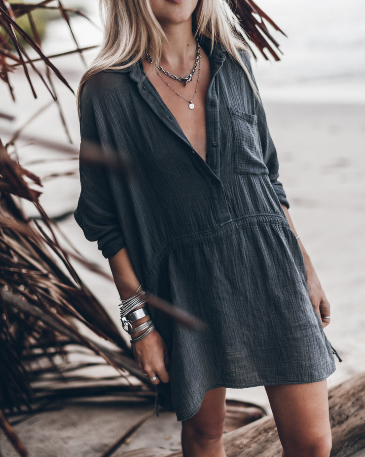 The Dark Shirt Dress
