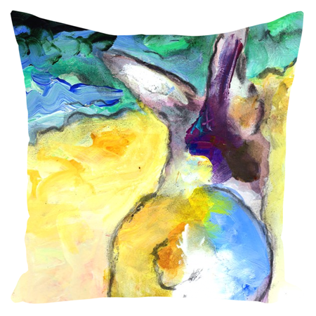 Beach Bunny Throw Pillows
