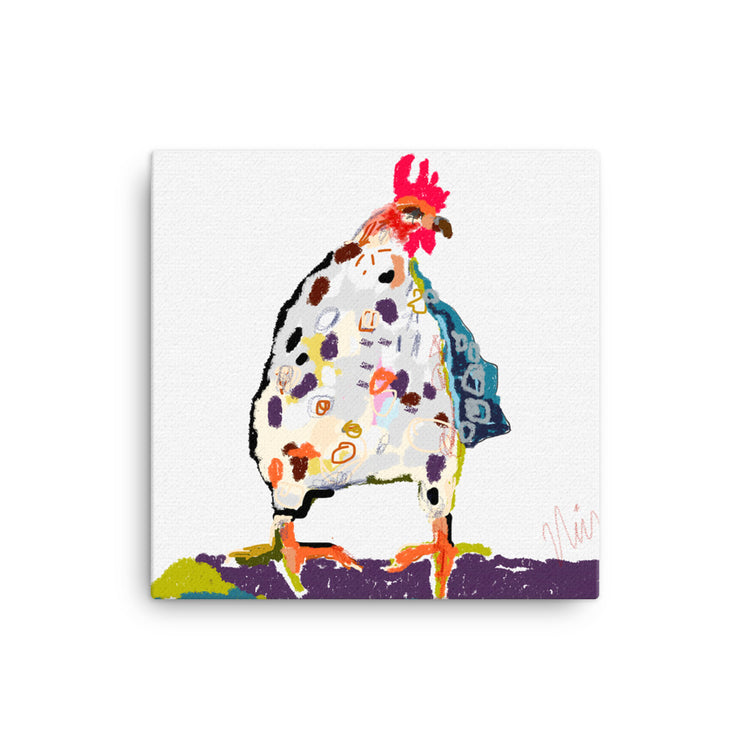 White Chicken on Canvas