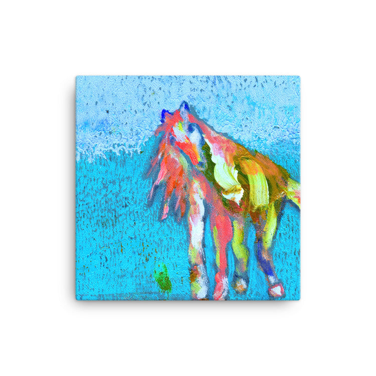 Saunter and Flow Horse Canvas
