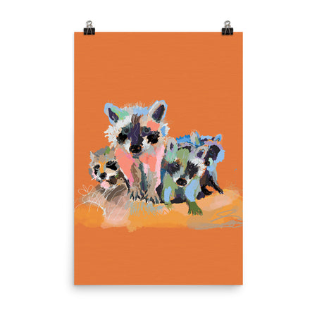 Rust Raccoons - Enhanced Matte Paper