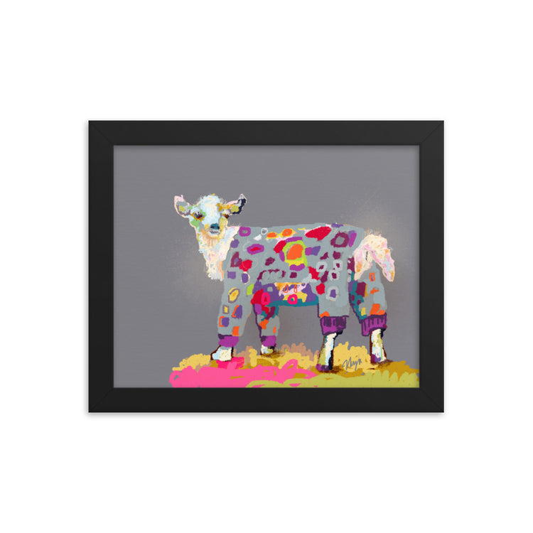 Goat in PJ's Framed Art Print