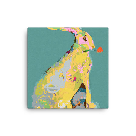 Pine Green Jack Rabbit Canvas