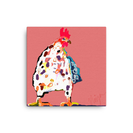 Red Chicken Canvas