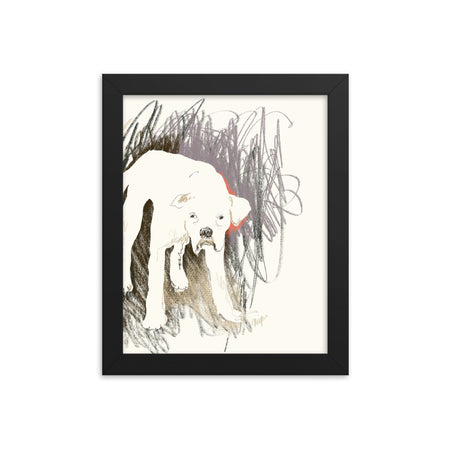 Boxer in San Diego Framed Art Print