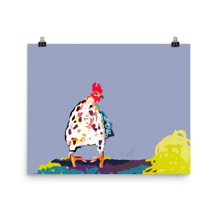 Periwinkle Chicken Art Print