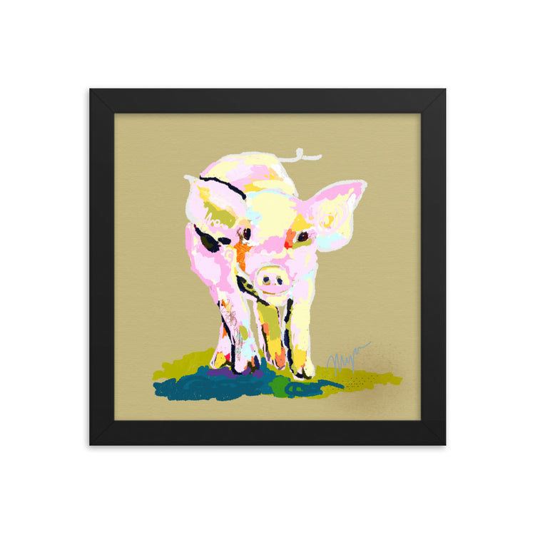 Piggy Comin At Ya... Framed Art Print