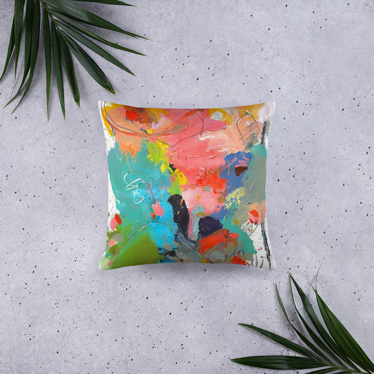 Pear Abstract Decorative Pillow