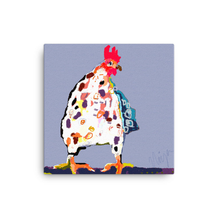 Periwinkle Chicken Canvas