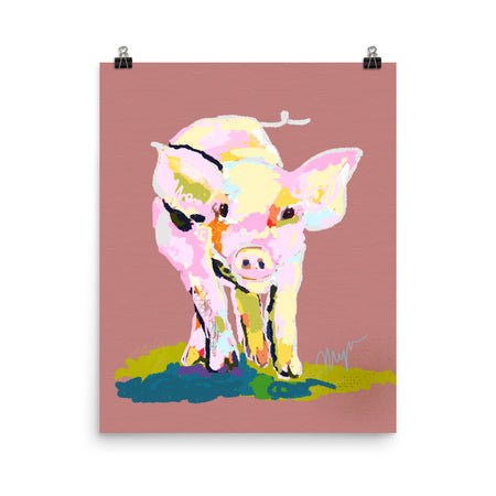 "Rose ""Piggy Comin At Ya""... Art Print"